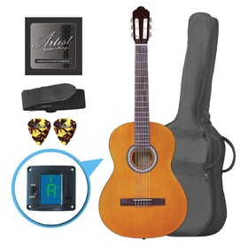 artist-cl44am-full-size-classical-guitar-pack-nylon-string-39-amber