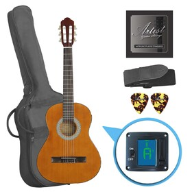 artist-cl34aml-left-hand-classical-nylon-string-guitar-pack-34-size
