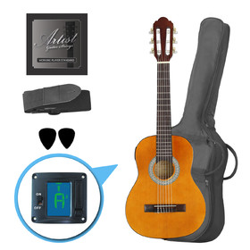 artist-cl14am-14-size-classical-guitar-pack-nylon-string-amber