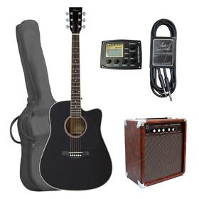 artist-lspceqpkbk-beginner-acoustic-guitar-pack-with-amp-black