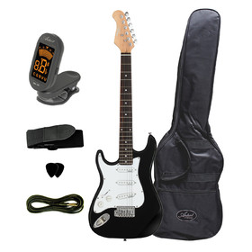 artist-st34bkl-34-size-left-hand-black-electric-guitar-accessories