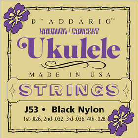 daddario-j53-ukulele-strings-hawaiian-concert-black-nylon