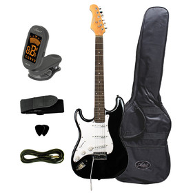 artist-stbkl-left-hand-electric-guitar-accessories-black