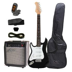 artist-st34bkpkl-34-left-hand-electric-guitar-pack-amp-accessori