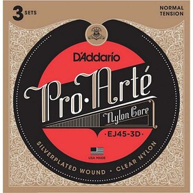 daddario-ej45-pro-arte-nylon-classical-guitar-strings-3-sets