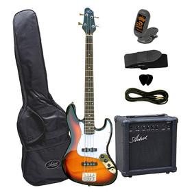 artist-jb1pksb-electric-bass-guitarplus-amp-accessories-sun-burst