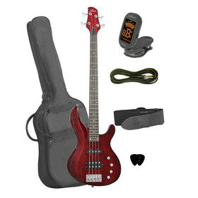artist-ag205qmrds-bass-guitar-accessories-red-quilted-maple
