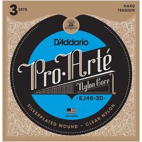 daddario-ej46-pro-arte-nylon-classical-guitar-strings-hard-3-sets
