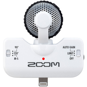 zoom-iq5-recorder-for-iphone-stereo-xy-audio-white-colour