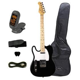 tclbkplusbb-artist-left-hand-black-electric-guitar-bonus-accessor