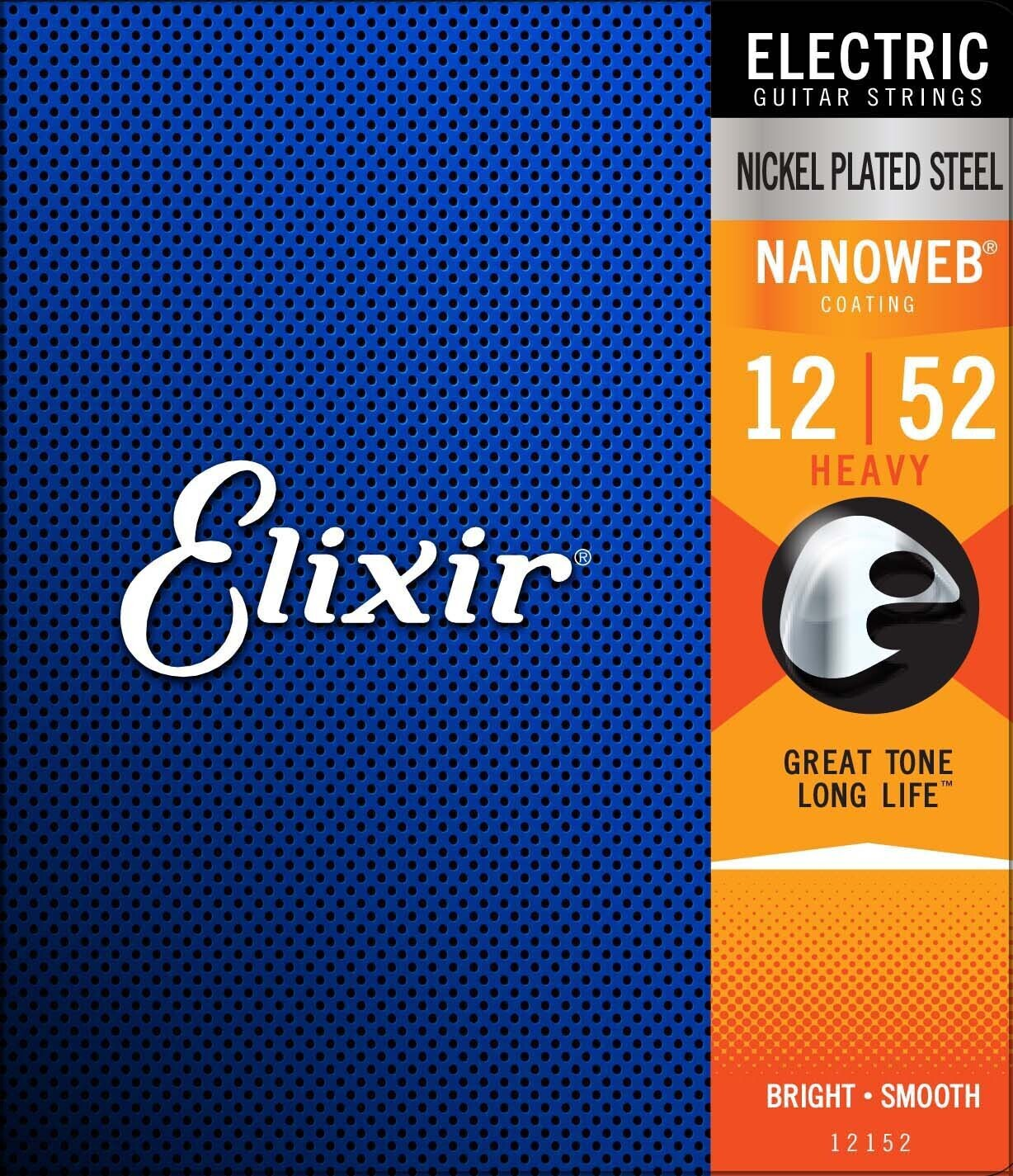 Elixir 12152 12-52 Nanoweb Electric Guitar Strings