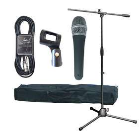 Artist High Grade Mic Stand Pack (XLR-Jack) - Mic Stand, Bag and Mic