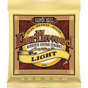 Ernie Ball 2004  Acoustic Guitar Strings Earthwood Light  11-52