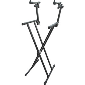 Artist KS027 Heavy Duty Double Tier Keyboard Stand (Double Braced)