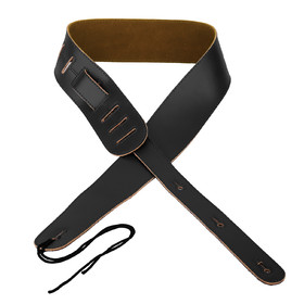 Artist S125 Genuine Leather Guitar Strap - Gloss Black