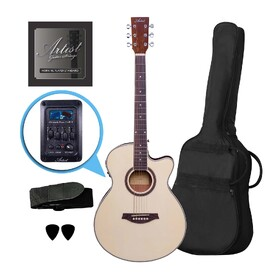 Artist LSPSCEQNT Beginner Small Body Acoustic Electric Guitar with EQ