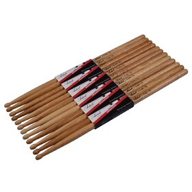 Artist DSO7A Oak Drumsticks with Wooden Tips 6 Pack