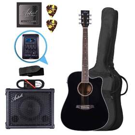 Artist LSPCEQBK Acoustic Electric Pack with EQ + BSK20 Amp and Lead