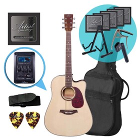 Artist LSPCEQNT Acoustic Electric Guitar with EQ Ultimate Pack