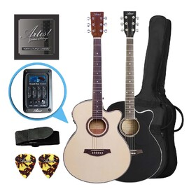 Artist LSPSCEQ Beginner Acoustic Electric Guitar Pack - Small Body