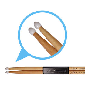 Artist DSM5BN Maple 5B Drum Sticks with Nylon Tips