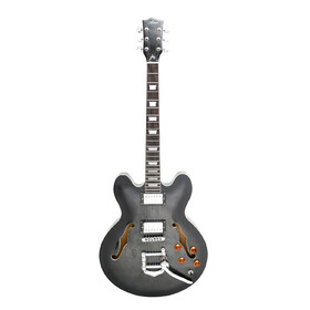 Customer Returned Artist BLACKCHERRY Translucent Black Hollow Body Electric Guitar