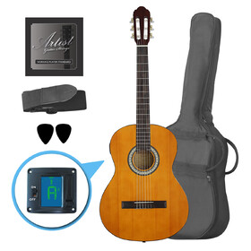 Customer Returned Artist CL44SPKAM Full Size Classical Guitar Pack, Nylon, Slim Neck